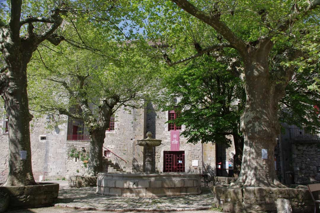 la place principale de Sainte Eulalie de Cernon