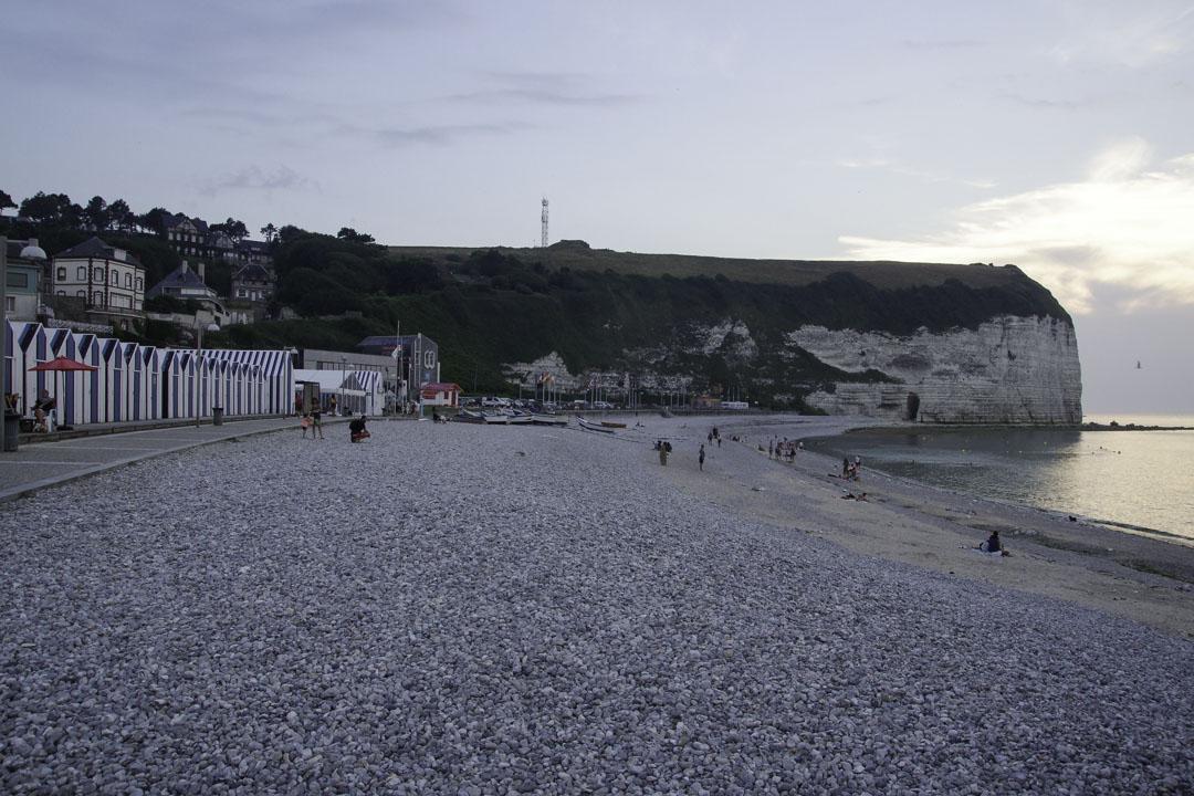 plage de galets - Yport