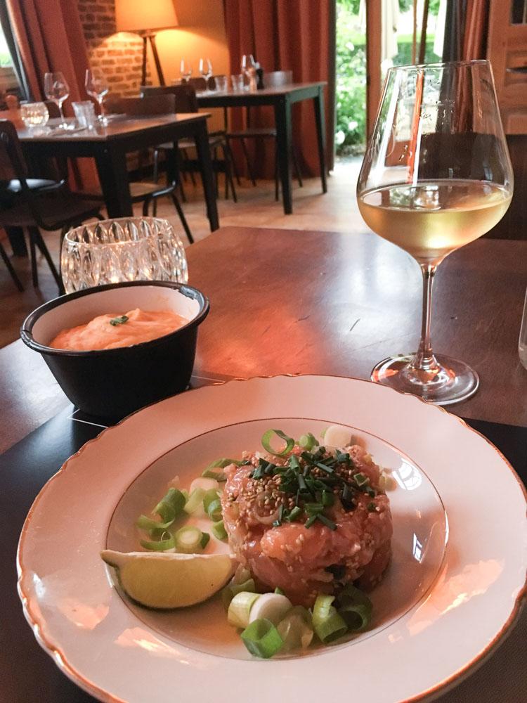 Tartare aux deux saumons - Restaurant les Enfants Sages au Havre