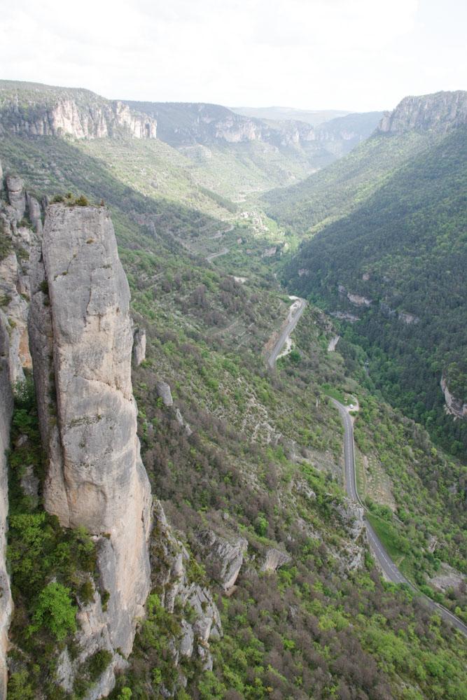 Panorama sur les gorges de la Jonte