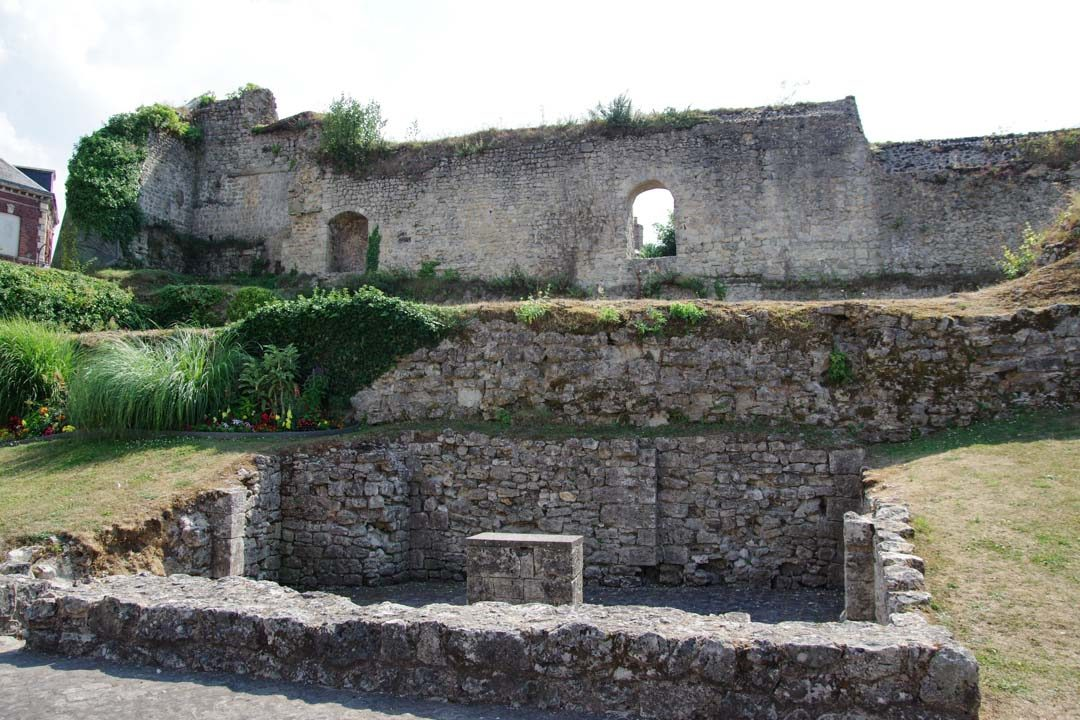 Ruines du palais ducal de Fécamp