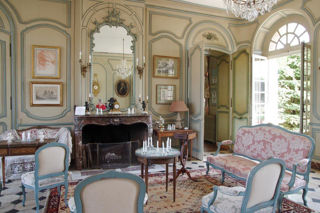salon du chateau de Mesnil Geoffroy
