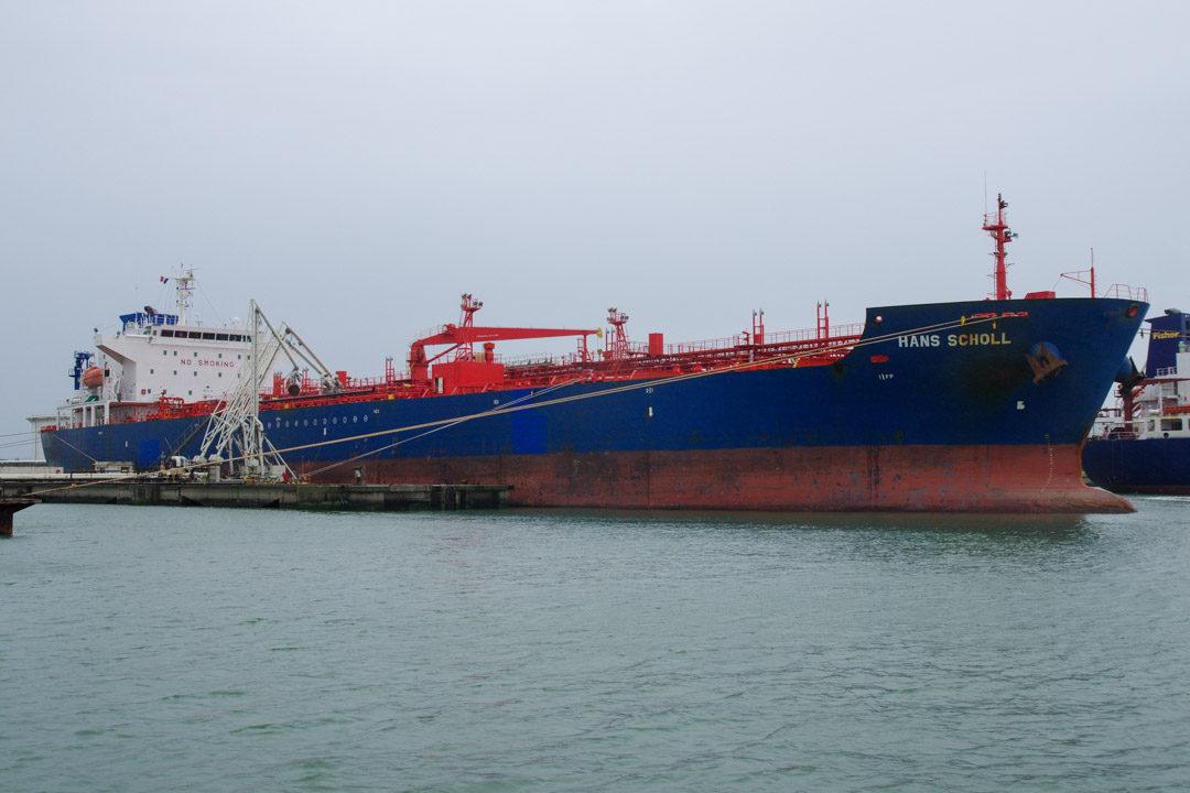 Un tanker ravaitaillant le port du Havre