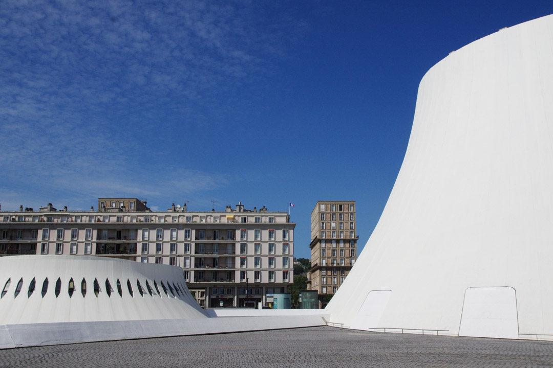 le Volcan théatre national et bibliotheque au Havre
