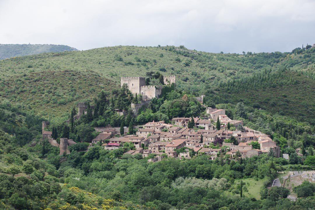panorama sur le village de Castelnou