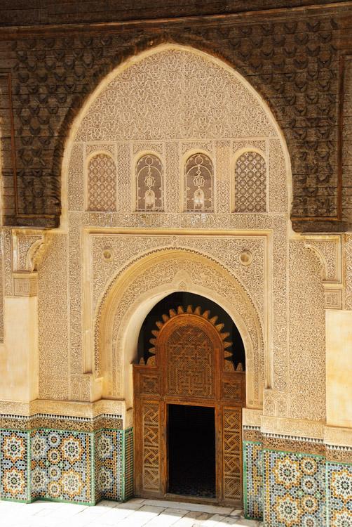 Porte ouvragée - Medersa Ali Ben Youssef - Marrakech