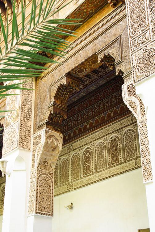 détail ornementation palais de la bahia
