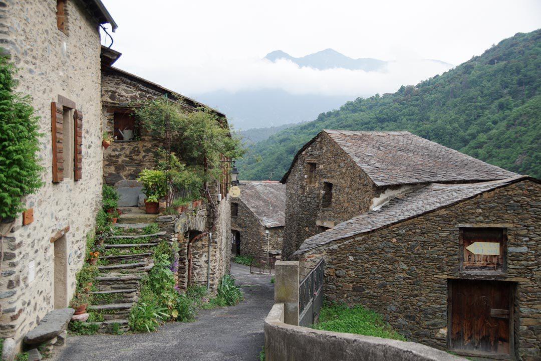village d'Evol dans les Pyrenees Orientales