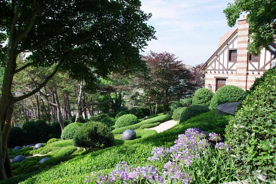 Visite des jardins d'Etretat