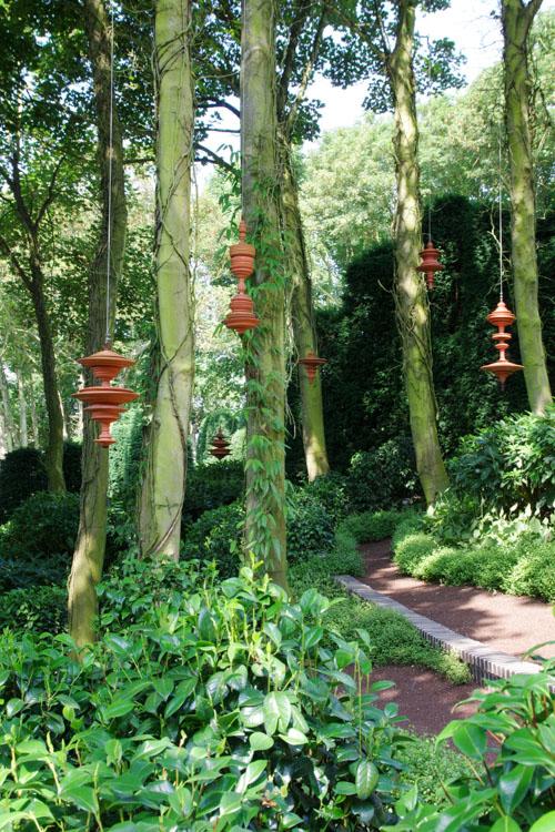 oeuvres d'art dans les jardins d'Etretat