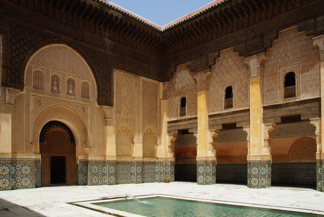 Pation central de la Medersa Ali Ben Youssef