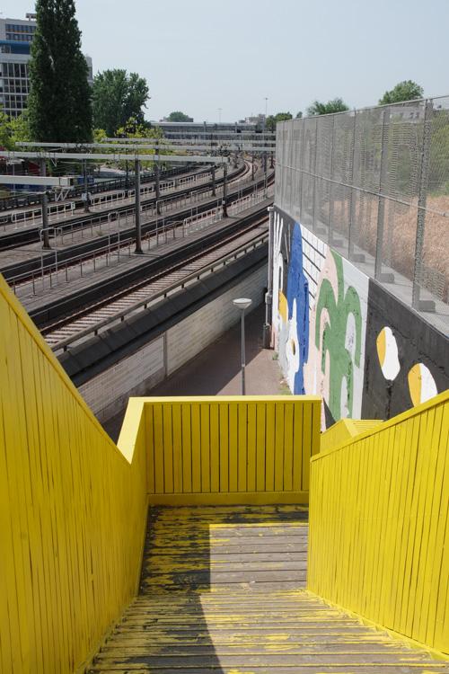 Passerelle Luchsingel et Street Art