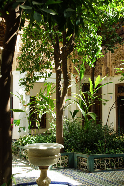 Patio arboré - Palais de la Bahia