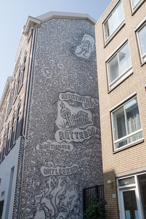 Fresque Street-Art dans Rotterdam