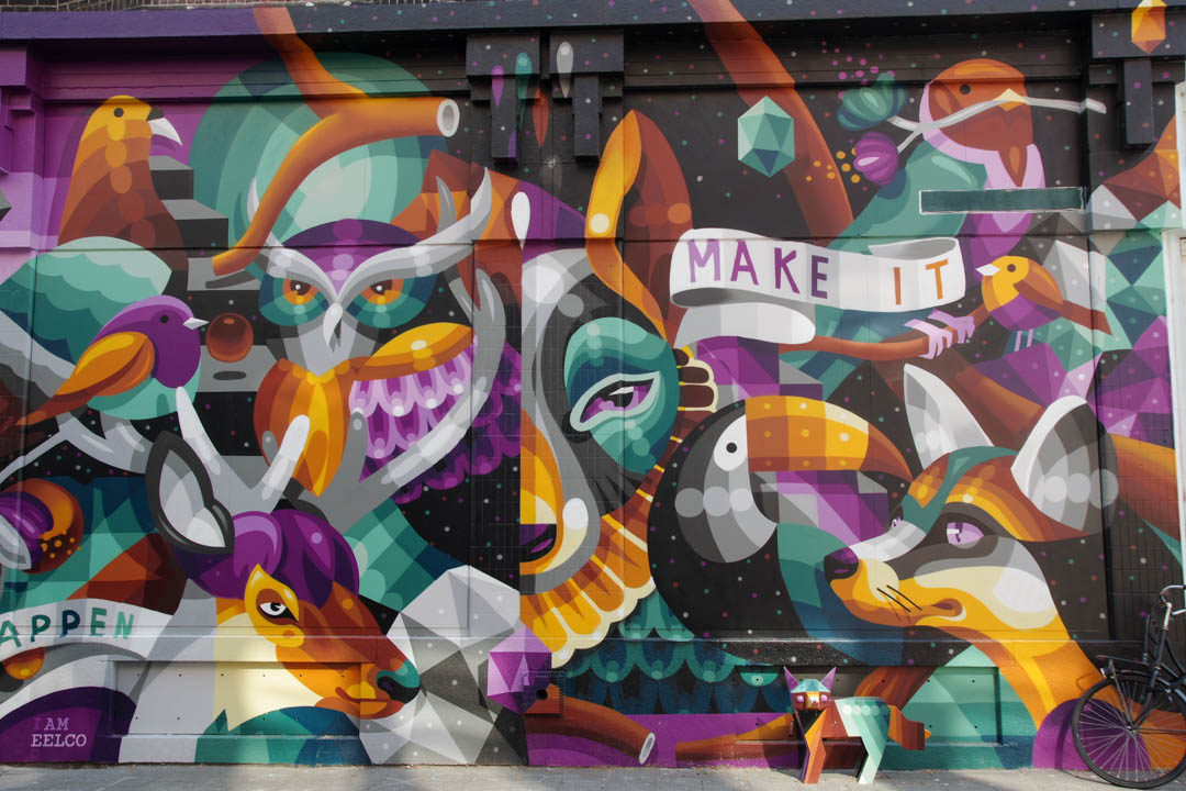 Fresque Make It Happen par I Am Eelco - Rotterdam
