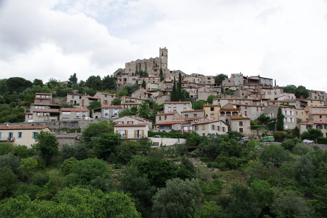Panorama sur le village d'Eus