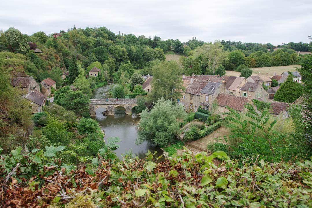panorama sur le village de Saint Ceneri le Gerei