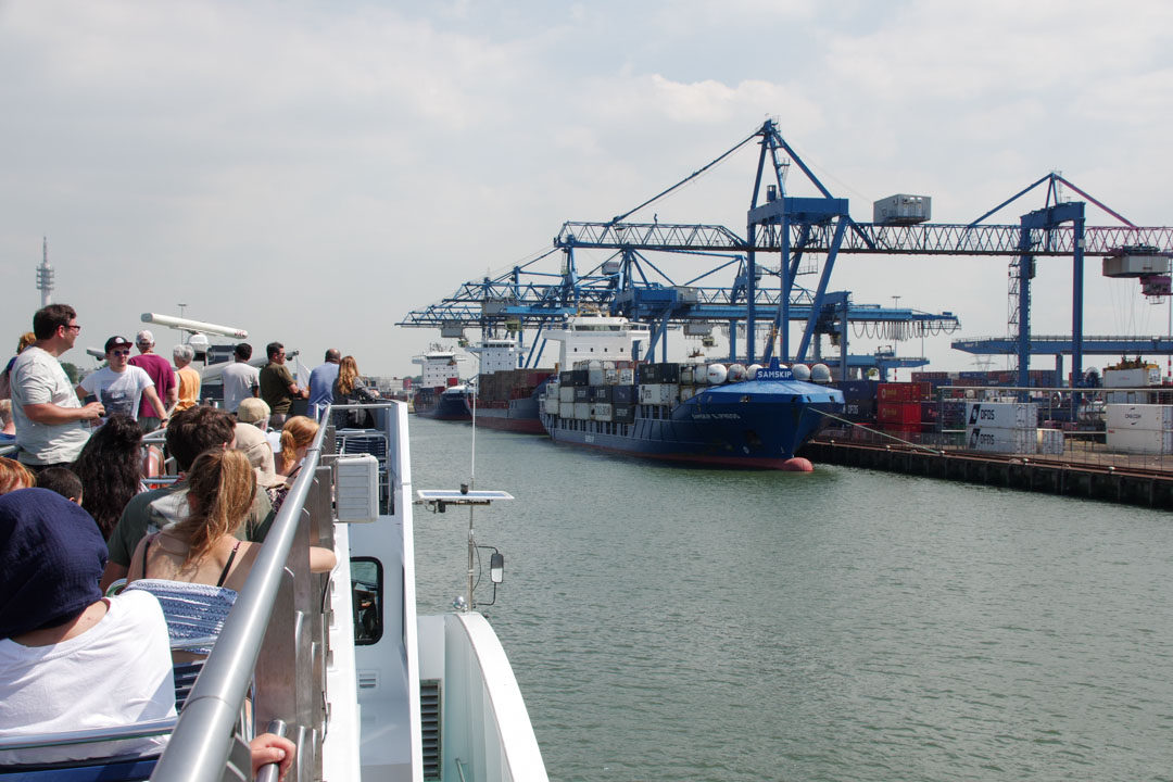 visite du port de Rotterdam, le plus grand port d'Europe