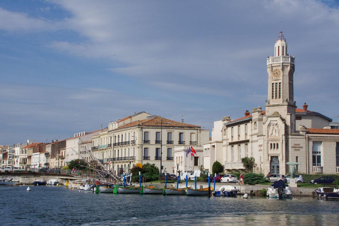 le centre ville de Sete vue des canaux