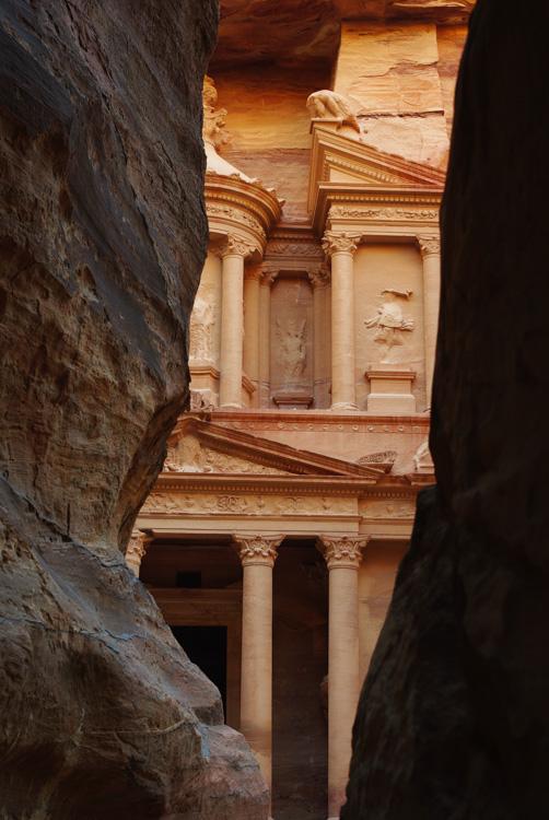 entrée de Petra - vue sur le Tresor