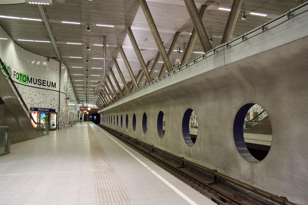 station de metro à rotterdam