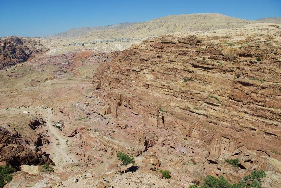 Panorama sur le site de Petra