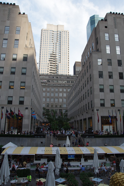 L'esplanade du Rockfeller Center de New York