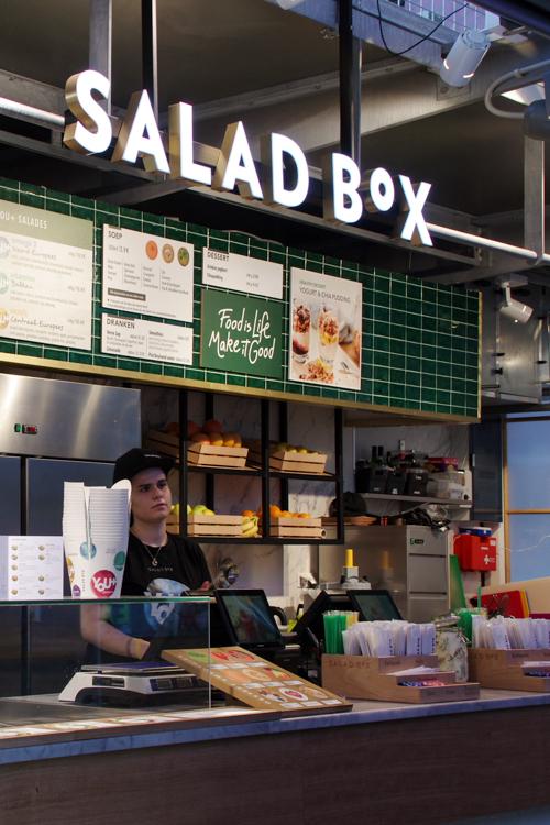 stand salad box au markthal Rotterdam