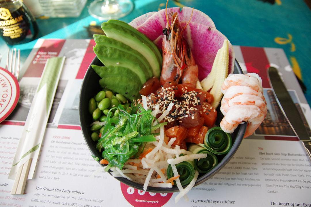 plat Takaki de Thon - restaurant de l'hôtel New York à Rotterdam