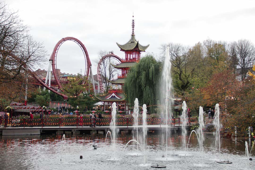 les attractions du parc de Tivoli