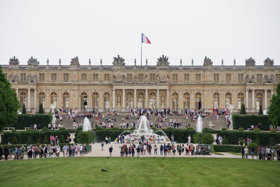le Chateau de Versailles vu depuis les Jardins