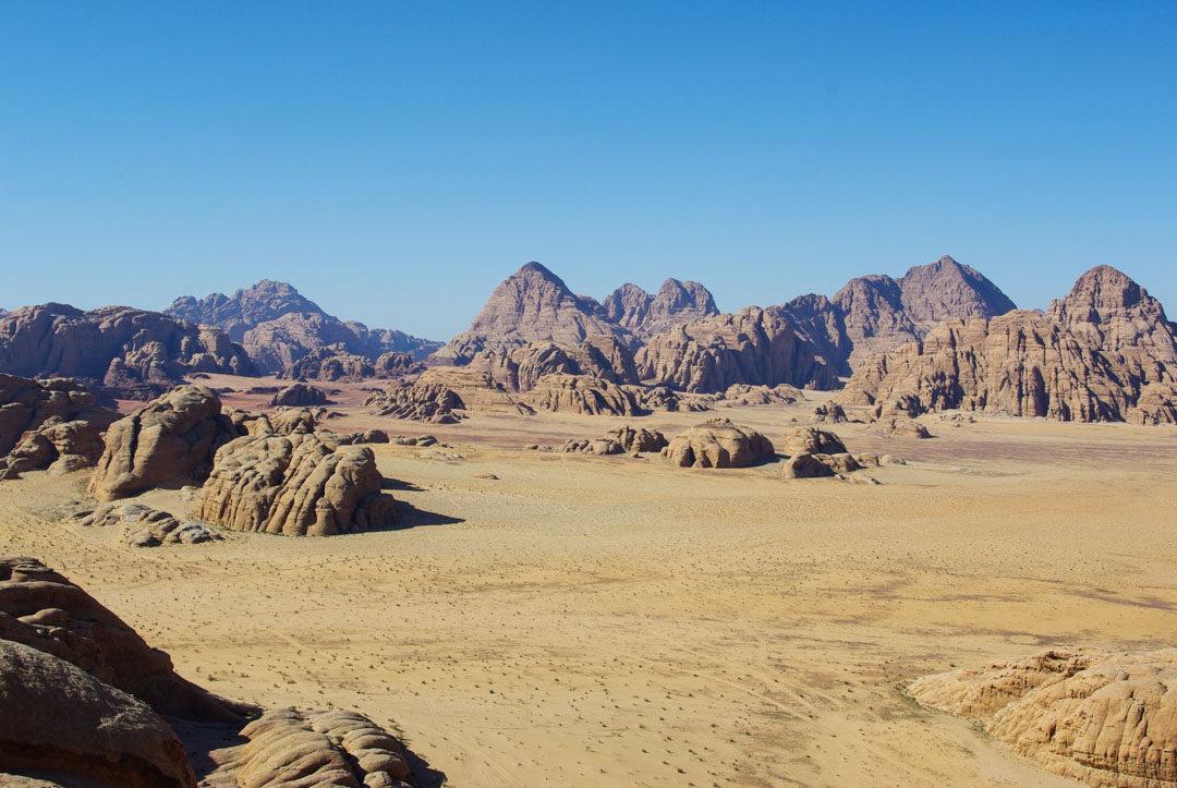 Desert du Wadi Rum en Jordanie