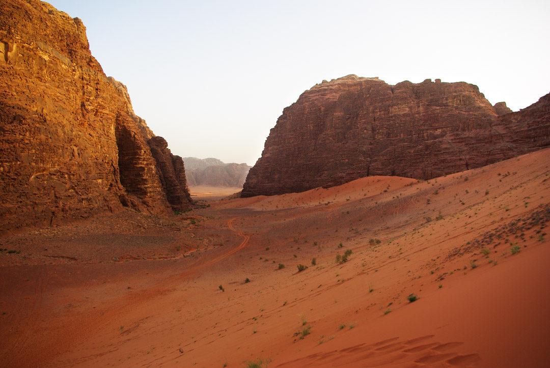 les dunes rouges du Wadi Rum