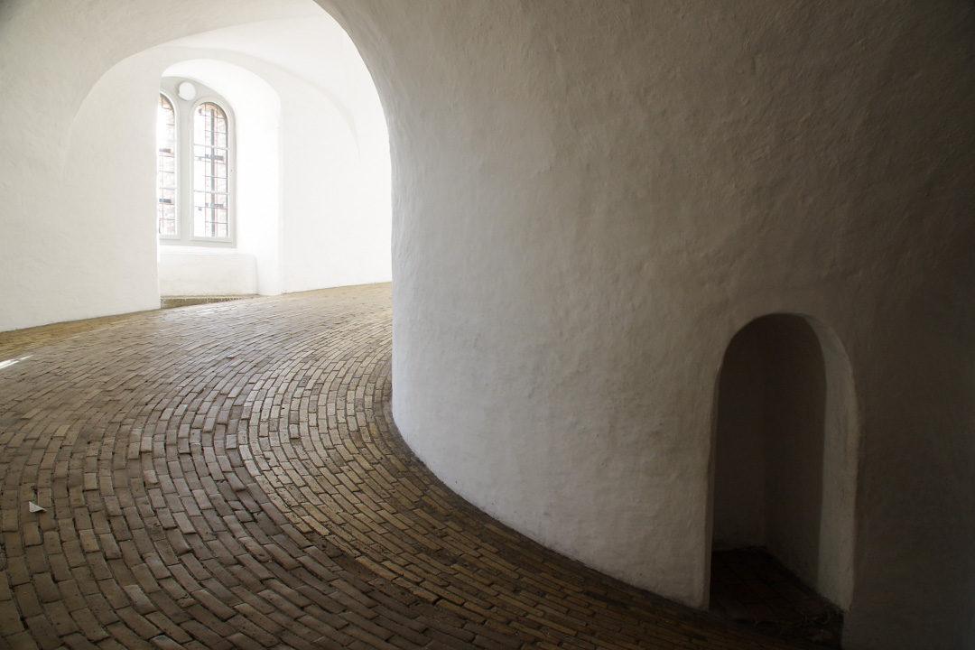 interieur de la tour ronde de Copenhague
