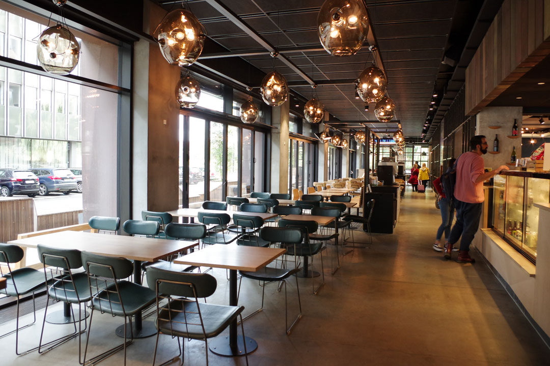 le lobby de l'auberge Steel House de Copenhague