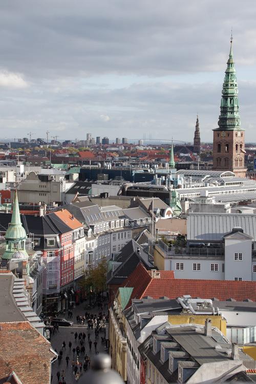 Panorama sur Copenhague depuis le sommet de la Tour Ronde