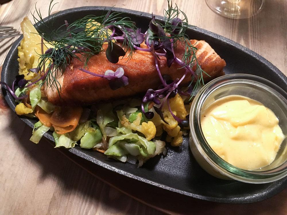 pave de saumon - restaurant Puk