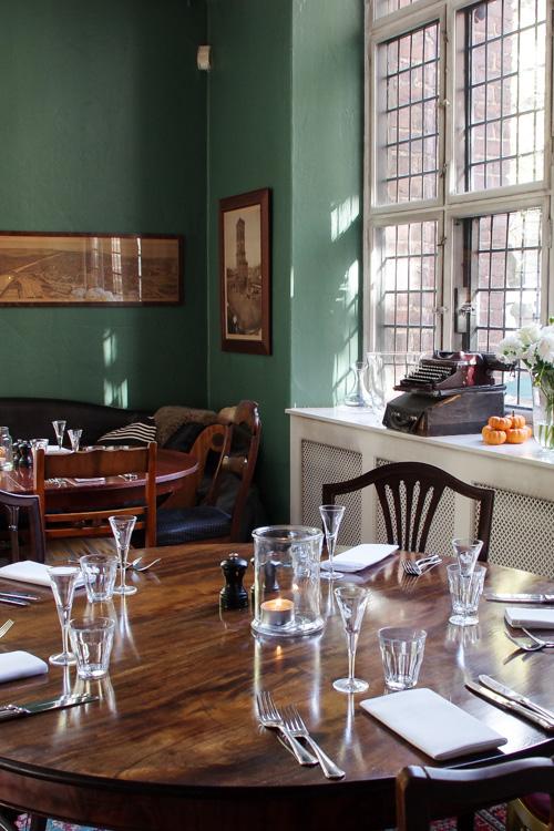 intérieur du restaurant Maven à Copenhague