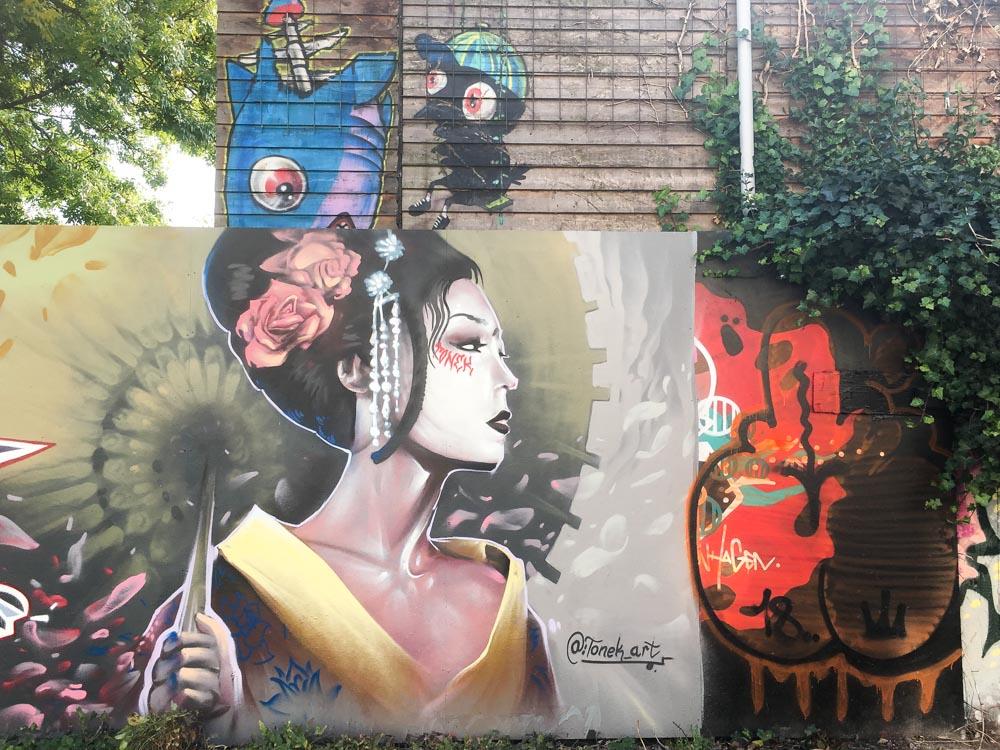 Fresque Street Art à Christiania