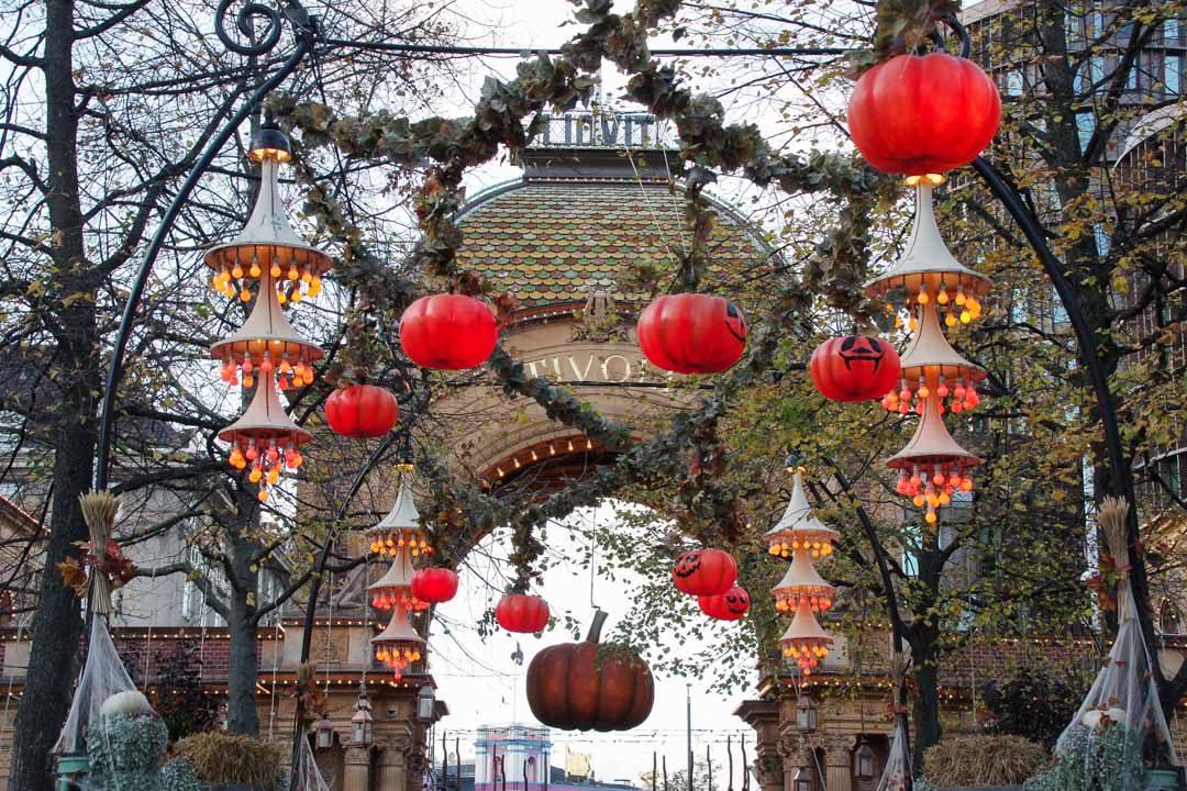 les jardins de Tivoli décoré pour Halloween