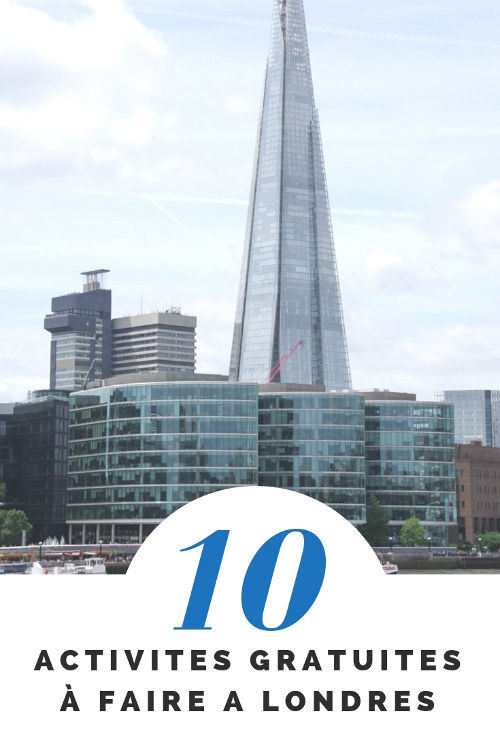 10 idées d'activités grauites à faire à Londres