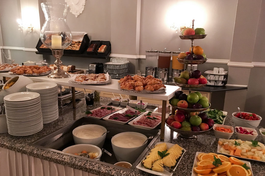 Buffet petit déjeuner de l'hotel Best Western Hebron à Copenhague
