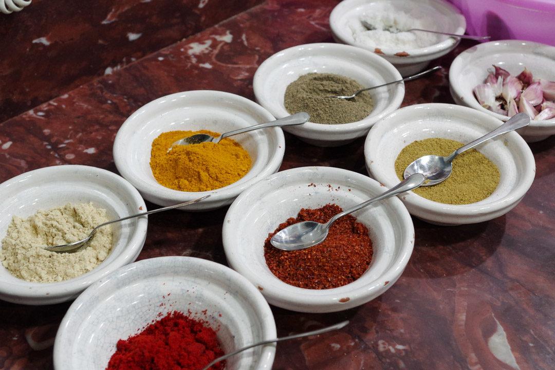 Epices pour le tajine marocain