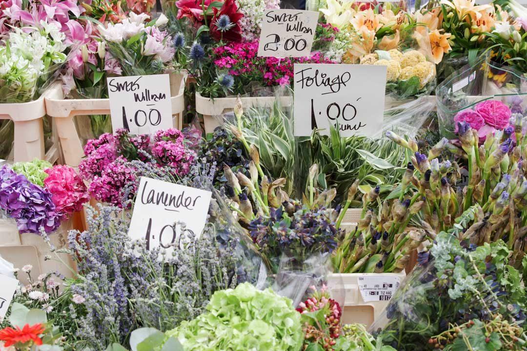 Stand de fleurs - Marché de Notting Hill