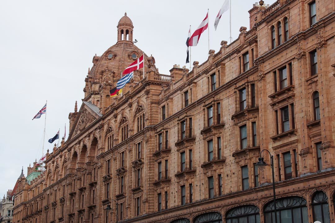 le grand magasin Harrods à Londres