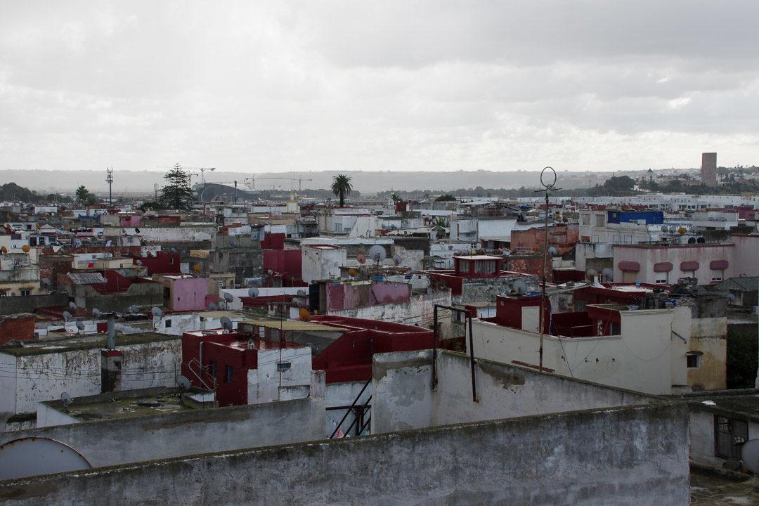 vue sur les toits de la médina de Salé