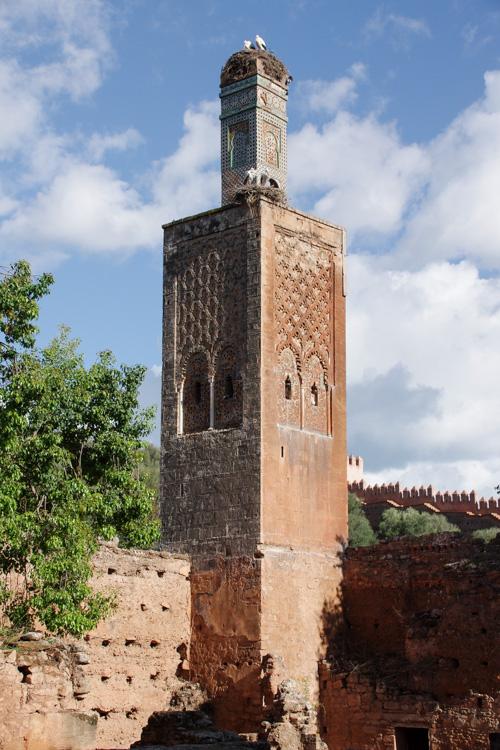 Minaret des ruines du Chellah