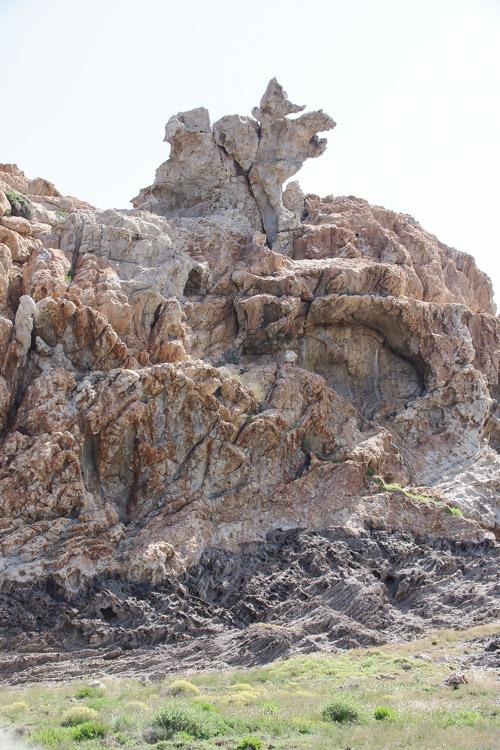 rochers aux formes étranges