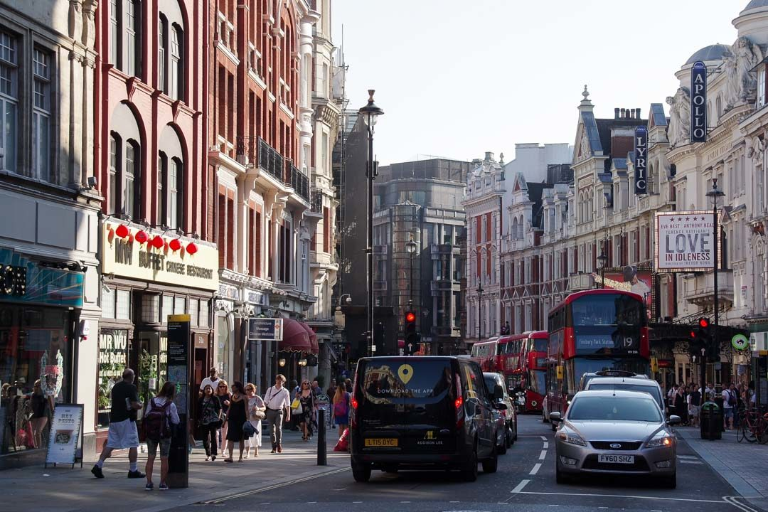 dans les rues de Londres