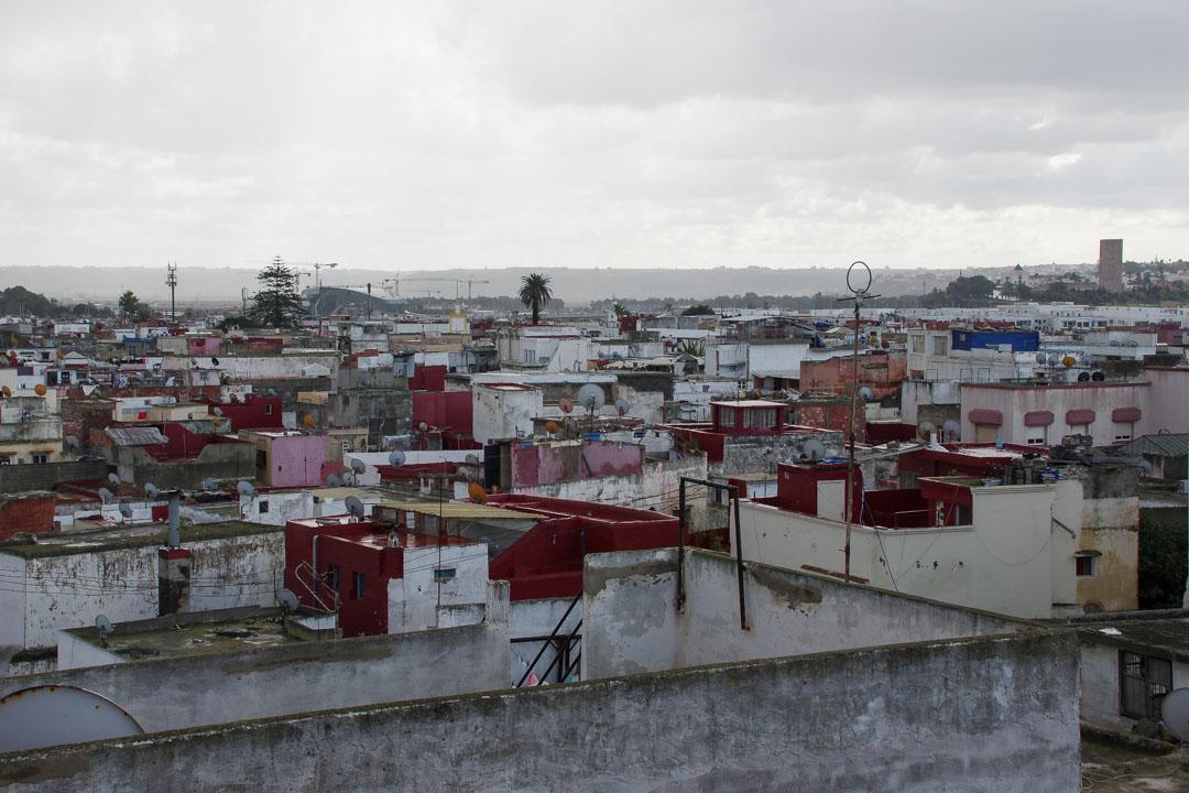 vue sur les toits de Salé depuis la Médersa